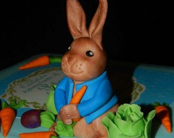 Peter Rabbit Fondant Cake Topper
