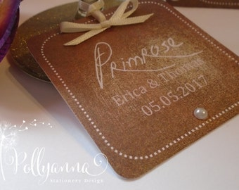Bespoke Personalised 'Glow' Place Card Name Setting Tag