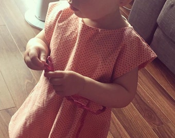 Pink pea dress vintage style   size 2 years