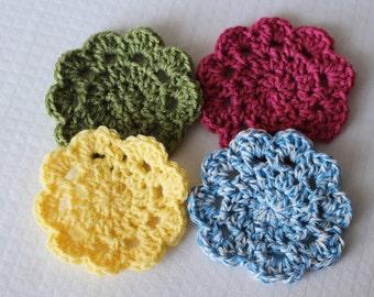 Easy Crochet Coasters PATTERN pdf instant digital download for beginners