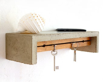 Concrete Shelf and Key Holder