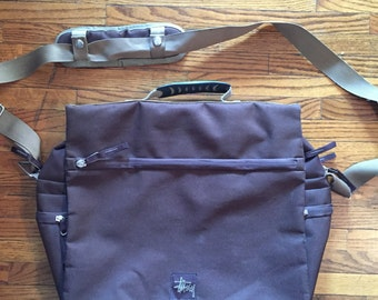 Stussy Cross Body Messenger Bag Vintage 90s