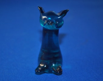 Green Crystal Glass Deco Cat