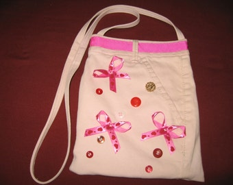 Buttons and Bows; small cross body bag