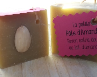 """The """"small almond paste"""", extra-soft and sweet almond milk SOAP"""