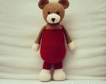 Crochet Bear Toy - Amigurumi - Tephra the Bear