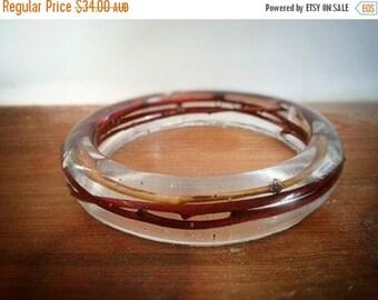 ON SALE for Limited time Red twig resin bracelet bangle, natural, wood, botanic,