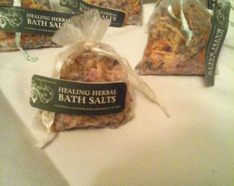 Organic Herbal Bath Salts