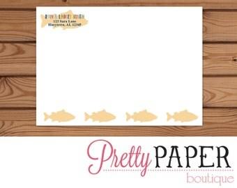 Gone Fishing Birthday Invitation Printed Envelope - A7