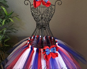 4th of July Tutu and bow set