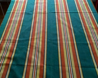 Retro outdoor fabric with stripes