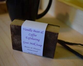 Vanilla Bean and Coffee Exfoliating Goat Milk Soap