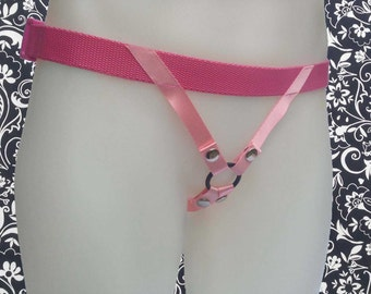 Nylon Strap on Harness - Candy - Pink