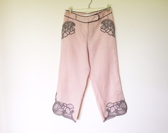 20% off using coupon! Linen capri pants size S