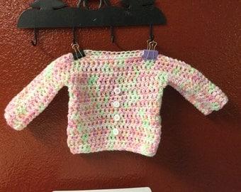 Newborn to 3 months pastel sweater