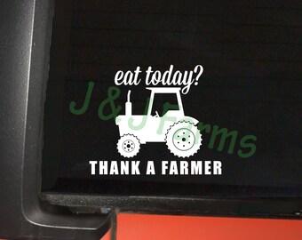 Thank a Farmer Decal