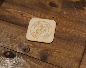 Military Branch Wooden Coasters