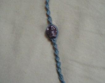 Hemp bracelet with skull