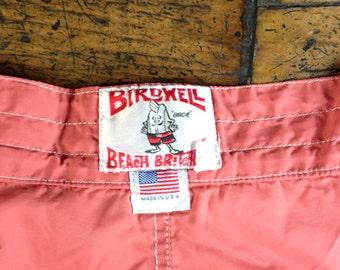 Vintage Birdwell Beach Britches Board Shorts Swim Trunks Sz 38