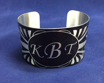 Monogramed Cuff Bracelet