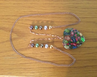 Kaleidoscope Heart Charm Necklace