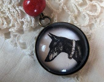 Doberman Pinscher pendant necklace