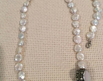 Fresh water coin pearls set