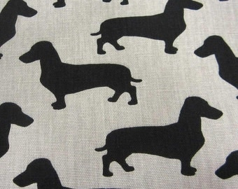 cotton fabric canvas swedish dachshund sausage dog beige-colored Tax Arvidssons