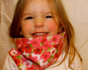 Pink Flower Toddler/Child Scarf