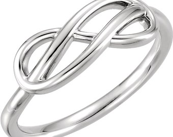 Sterling Silver Double Infinity Knot Ring