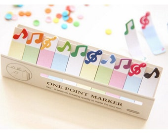 Music Sticky Notes / Cute Sticky Notes / One Point Marker / Sticky Notes / Kawaii Stationery / Cute Stationery / Bookmark / Kawaii / Cute