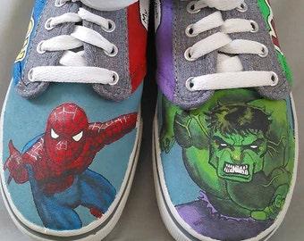 Custom painted boys shoes