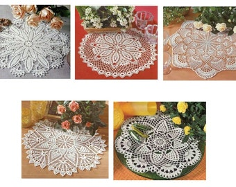 5 pcs crohet doily pattern in pdf-only diagrams-2