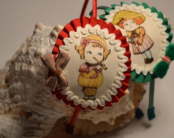 Doll vintage, tiara girls headband