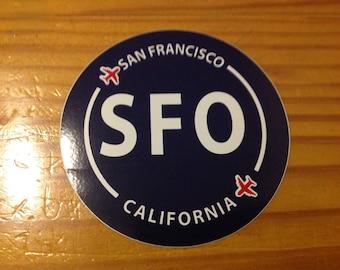 San Francisco SFO California Souvenir Airport Sticker