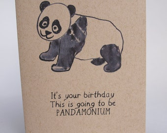 Greeting Card - Pandamonium
