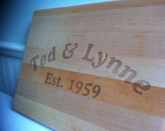 Engraved Cutting Board, Personalized Cutting Board, Personalized Wedding Gift, Anniversary Gift, Housewarming Gift