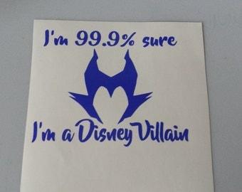 I am a VILLAIN Vinyl Car Window Yeti Decal Laptop Sticker * Free Shipping