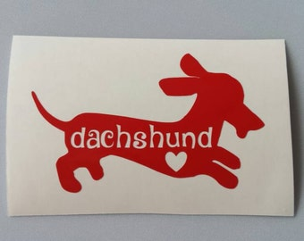DACHSHUND Vinyl Decal .. Free Shipping .. Yeti Car Window Sticker Laptop Wine Glass Beer Mug Frame Sports Bottle Organizer