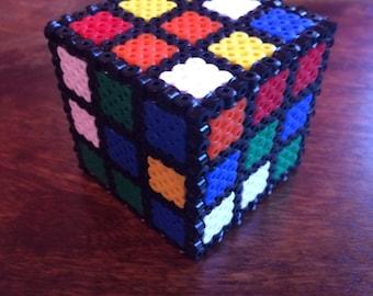 3D Pixel Art Bead Coloured Puzzle cube