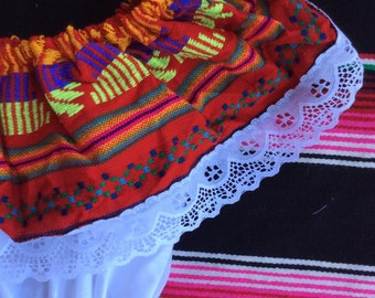 Little girl off shoulder traditional Mexican dress, size 4t.