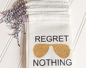 Regret Nothing Hangover Kit Bag With Gold Bling Sunglasses