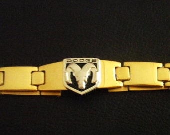 Dodge Ram 18K Gold Plated Bracelet