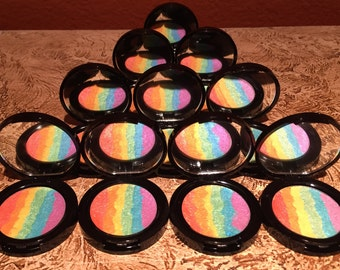 PREORDER 59mm rainbow highlighter with compact