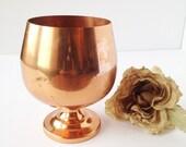 Copper Goblet / Copper Drinking Goblet / Copper Plant Holder / Copper Planter / Vintage Copper / Vintage Planter / Copper Pot