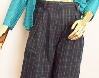 Plaid shorts, plaid pants for women, checked pants