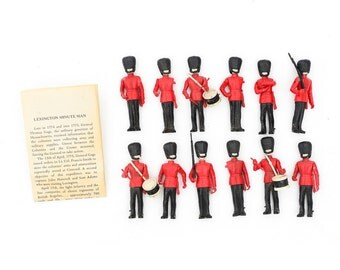 1950s Toy Soldiers; Lexington Minutemen; Plastic Toy Soldiers