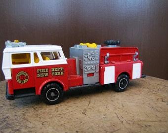Fire Dept New York Truck Toy, Fire Truck New York, Fire Truck Toy, Vintage Majorette Fire Truck, Majorette Toy, Fire Truck New York