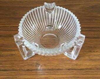 Art deco glass ashtray