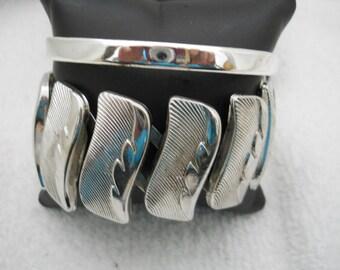 Two Sliver Tone Bracelets #383